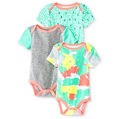 Oh Joy!® Newborn 3 Pack Bodysuit Set - Painted Camo 12M
