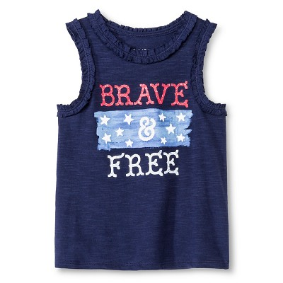 Toddler Girls' Brave & Free Tank Top Navy Blue 5T - Genuine Kids from Oshkosh™