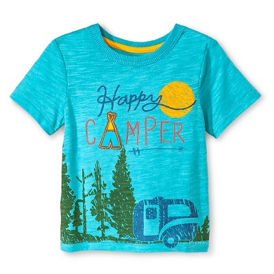 Baby Boys' Short Sleeve T-Shirt - Aqua Blue 12M - Genuine Kids™ from OshKosh®