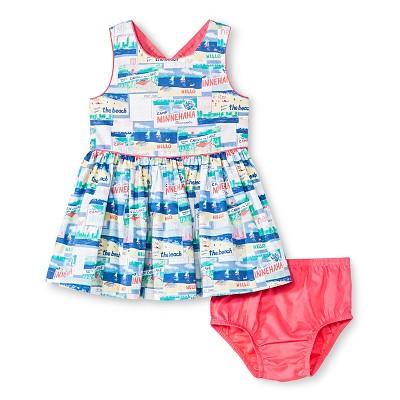 Baby Girls' Postcard Dress Blue 18M - Genuine Kids from Oshkosh™