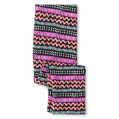 Toddler Girls' Tribal Multi-Stripe Capri Legging Gray - Circo™