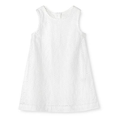 Toddler Girls' Eyelet Dress White 3T - Genuine Kids from Oshkosh™