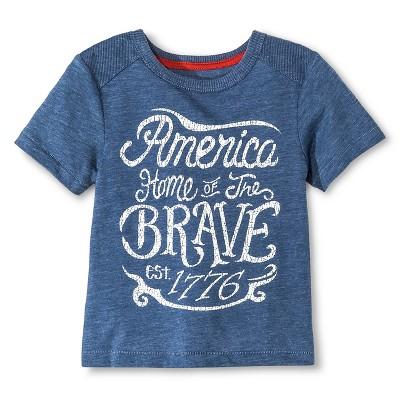 Baby Boys' T-Shirt - Metallic Blue 12M - Genuine Kids™ from OshKosh®