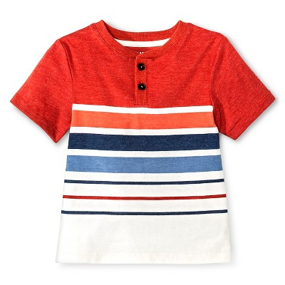 Baby Boys' Short Sleeve Stripe Henley Shirt - 12M - Genuine Kids™ from OshKosh®