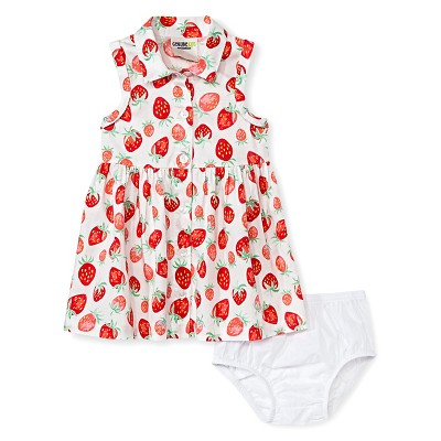 Baby Girls' Strawberry Sun Dress White 12M - Genuine Kids from Oshkosh™