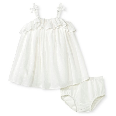 Baby Girls' 2-Piece Clip Spot Sun Dress and Panty Set Almond Cream 12 M - Genuine Kids from Oshkosh™