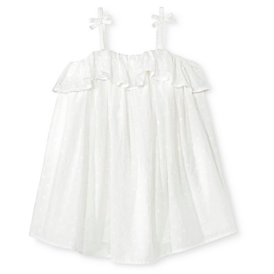Toddler Girls' Clip Spot Sun Dress Almond Cream 3T - Genuine Kids from Oshkosh™