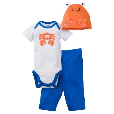 Gerber® Baby Boys' 3pc Crab Set 0-3M