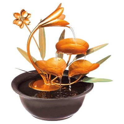 Nature's Gifts Tabletop Fountain Copper - Evergreen