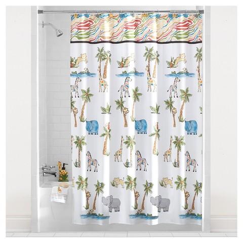 Safari Fabric Shower Curtain Target