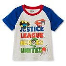 Justice League Toddler Boys' T-Shirt 5T - Light Heather Grey