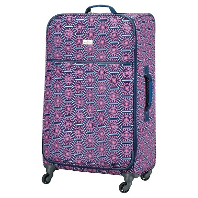 "Happy Chic by Jonathan Adler 28"" Luggage - Pink/Navy Starburst"