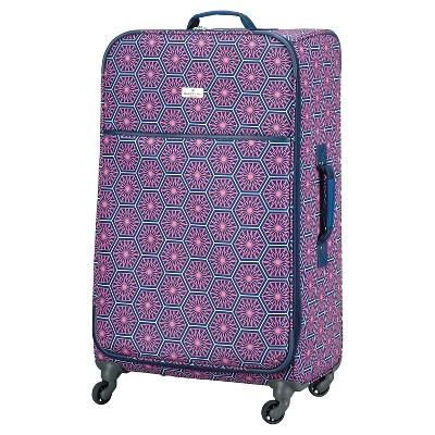 "Happy Chic by Jonathan Adler 28"" Luggage - Pink/Navy Starburst"