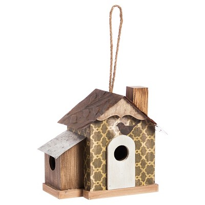 For the Love of Birds Birdhouse Brown - Evergreen