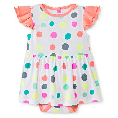 Oh Joy!® Baby Polka Dot Skirted Bodysuit - White 0-3M