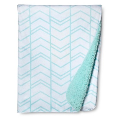 Valboa Baby Blanket - Blue Herringbone - Circo™