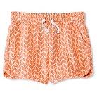 Girls' Knit Jogger Short Orange XS - Cherokee®