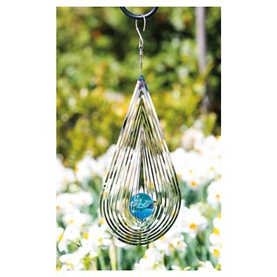 Tear Drop Glass Decor Spectrum Spinner Clear - Evergreen
