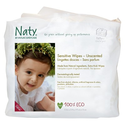 ECO by Naty Unscented Wipes -168 Count