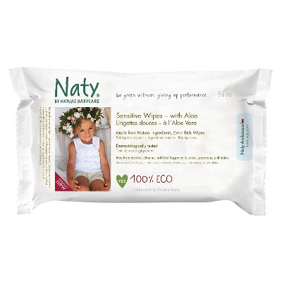 ECO by Naty Aloe Wipes - 56 Count