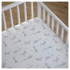 CoCaLo Crib Fitted Sheet - Airplane Stars - Blue/White