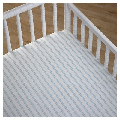 CoCaLo Crib Fitted Sheet - Stripe - Starlight Blue