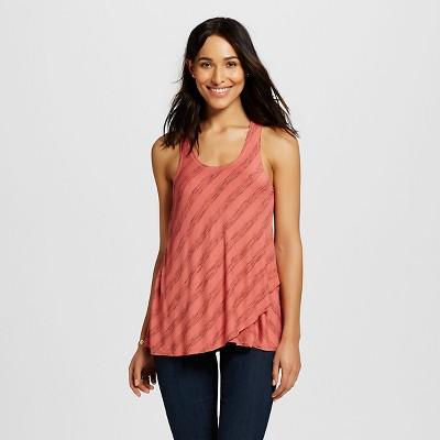 Women's Striped Tank Coral XL - Knox Rose™