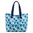 Women's Floral Print Canvas Beach Tote Handbag