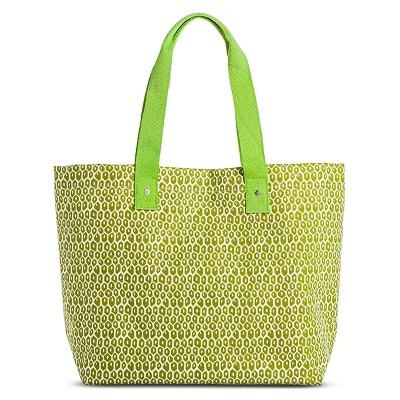 Rockflowerpaper Women's Camden Canvas Beach Tote Handbag - Lime