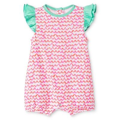Oh Joy!® Newborn Romper - Pink Scallops 0-3M