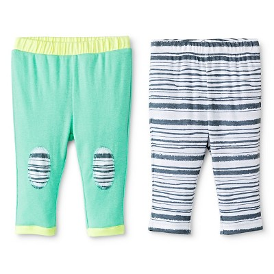 Oh Joy!® Newborn 2 Pack Pant Set - Grey Stripes 3-6M