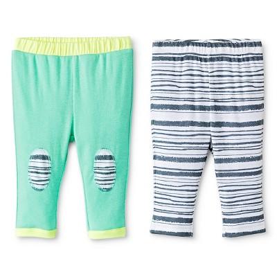 Oh Joy!® Newborn 2 Pack Pant Set - Grey Stripes 6-9M