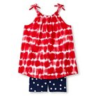 Toddler Girls' Stripes and Stars Tunic and Bike Short Red 6 - Circo™