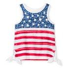 Toddler Girls' Flag Mock Tie Tank Top White 6 - Genuine Kids from Oshkosh™