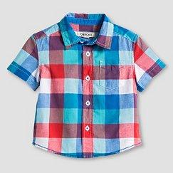 Baby Boys' Short Sleeve Button Down Shirt White - Cherokee®