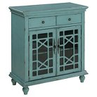 Two Door Two Drawer Cabinet Blue - Treasure Trove