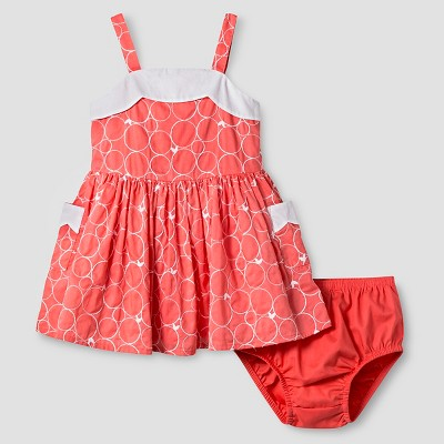 Baby Girls' Scallop Neck Dress Coral 18M - Genuine Kids from Oshkosh™