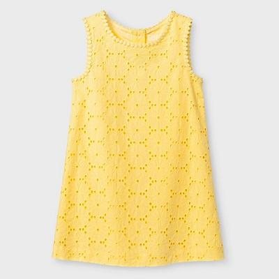 Toddler Girls' Eyelet Dress Yellow 3T - Genuine Kids from Oshkosh™