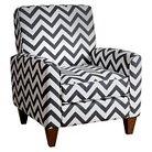Conway Chevron Black Fabric Armchair