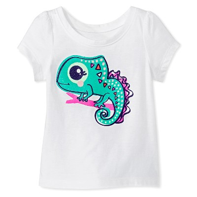 Baby Girls' Lizard Graphic Tee White 12M - Circo™