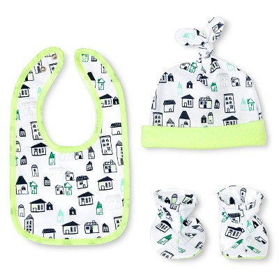 Oh Joy!® Newborn Bib, Hat & Slipper Set - City OSFM