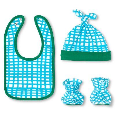 Oh Joy!® Newborn Bib, Hat & Slipper Set - Grid OSFM