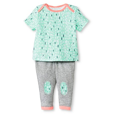 Oh Joy!® Newborn 2 Piece Tee and Pant Set - Snowy Dash 0-3M