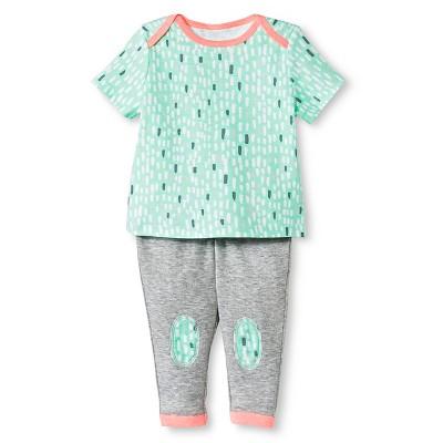 Oh Joy!® Newborn 2 Piece Tee and Pant Set - Snowy Dash 24M