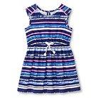 Toddler Girls' Striped Sleeveless Dress Navy Blue 4T - Cherokee®