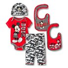 Disney Mickey Mouse Baby Boys' 5 Piece Set - Red 0-6 M
