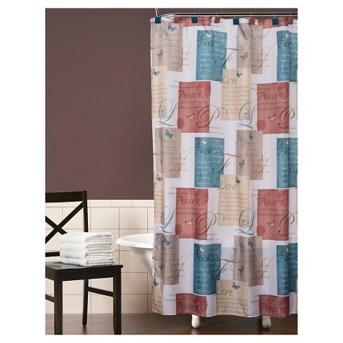 Cherish Fabric Shower Curtain Target