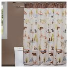 Camping Critters Fabric Shower Curtain