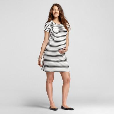 Maternity Striped T-Shirt Dresses Cream M - Liz Lange® for Target