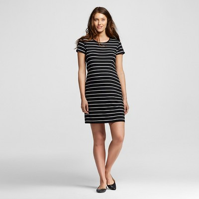 Maternity Striped T-Shirt Dresses Ebony S - Liz Lange® for Target